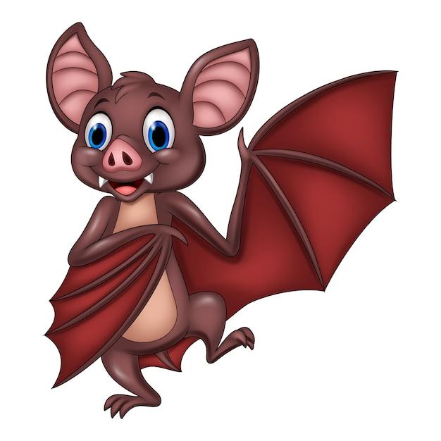 Dibujos Animados Divertido Murciélago Posando Descargar Vectores