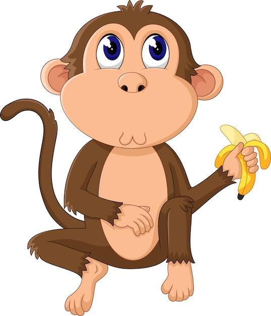 Dibujos Animados Divertidos Mono