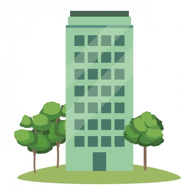 Dibujos animados de edificio de estado real | Vector Premium