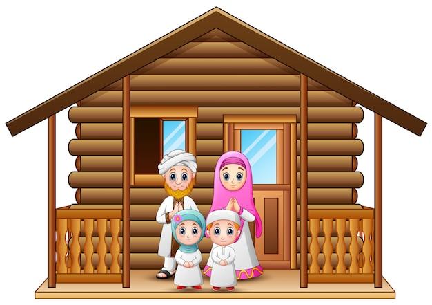 Dibujos Animados De Familias Musulmanas En La Casa De