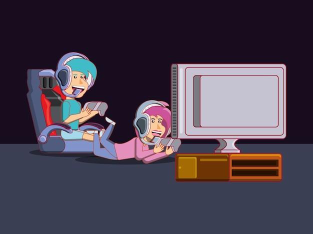 Demo Niños Jugando Videojuegos Dibujos Wwwimagenesmycom