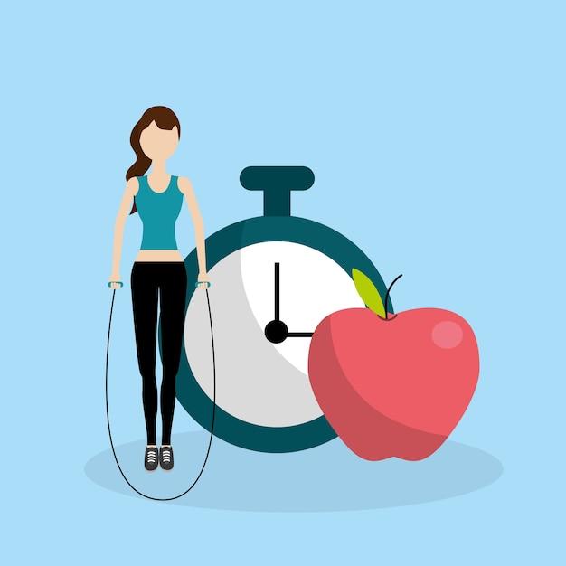 Dibujos Animados De Fitness De Salud Descargar Vectores