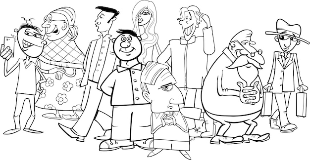 Dibujos Animados De Grupo De Personas