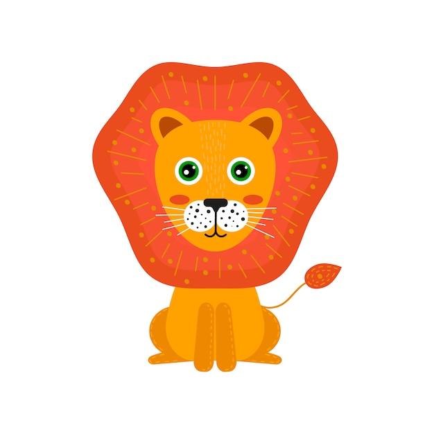 d141d7878a9ac Dibujos animados infantiles de animales. lindo león para los niños ...