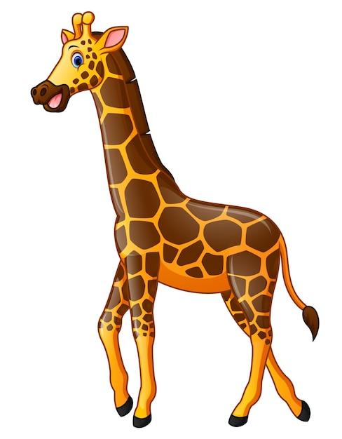 Dibujos animados de jirafa feliz | Descargar Vectores Premium