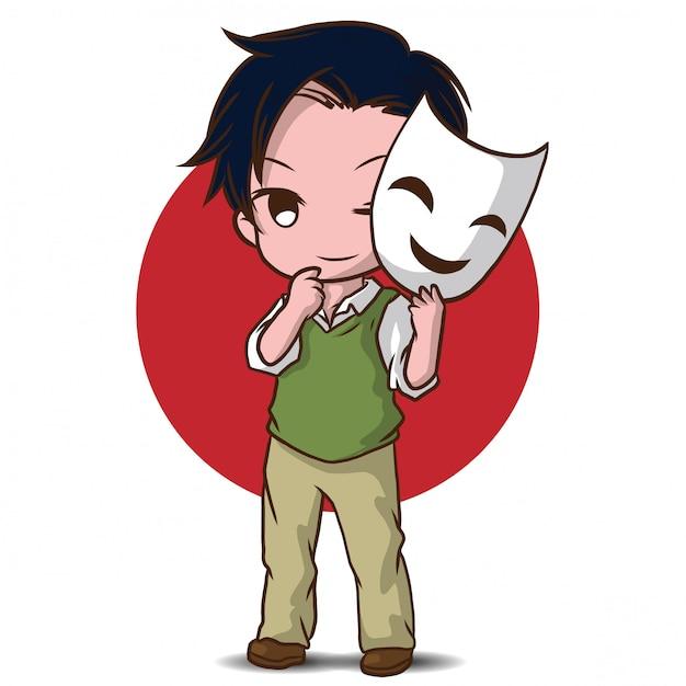 Dibujos animados lindo actor Vector Premium