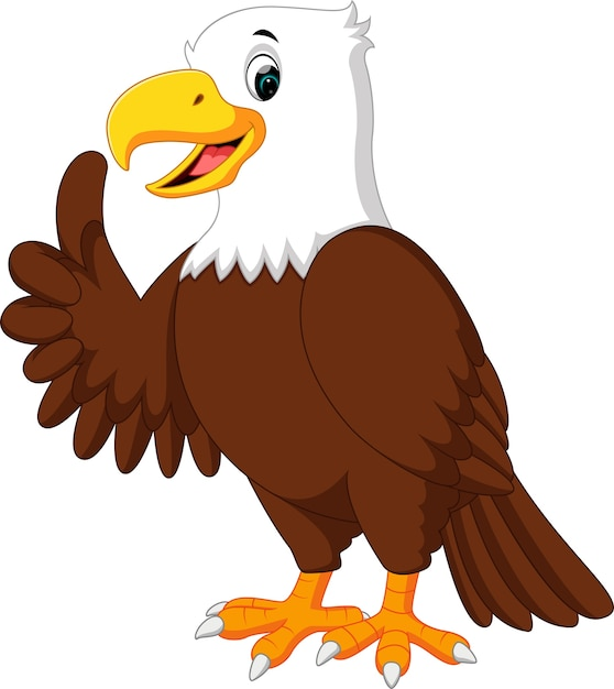 Dibujos animados lindo águila   Descargar Vectores Premium