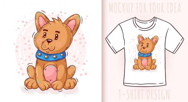 Dibujos animados lindo bebé cachorro. gran diseño para tu producto. Vector Premium