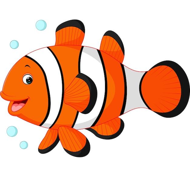 dibujos animados lindo pez payaso descargar vectores premium