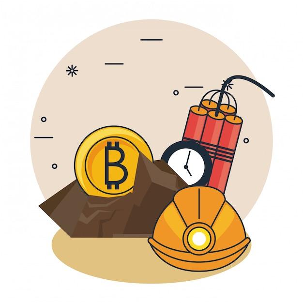 Dibujos Animados De Mineria De Bitcoin Descargar Vectores Premium