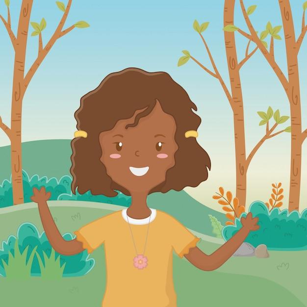 Dibujos animados de niña adolescente vector gratuito