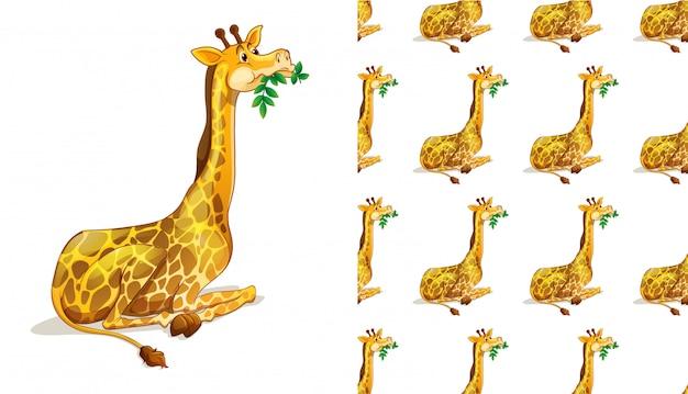 Dibujos animados de patrón animal transparente y aislado vector gratuito