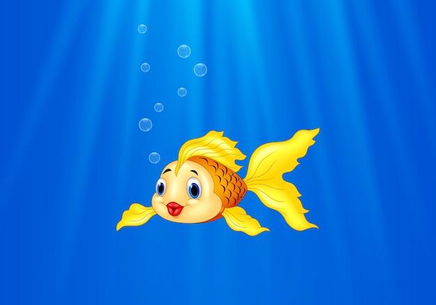 Dibujos Animados De Peces De Colores Nadando En El Agua