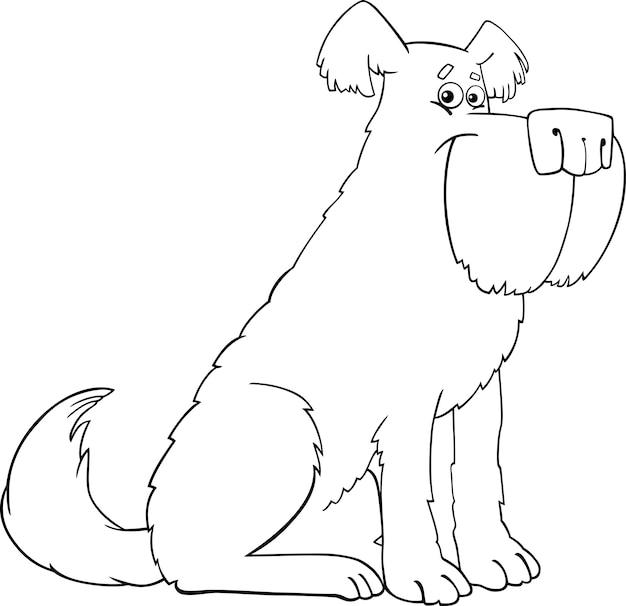 Dibujos Animados De Perro Lanudo Para Colorear Libro