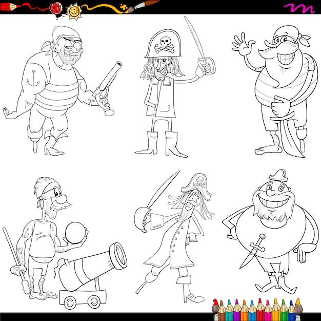 Dibujos animados de piratas de fantasía para colorear | Descargar ...