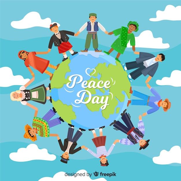 Dibujos Animados De Todo El Mundo Celebrando El Día De La