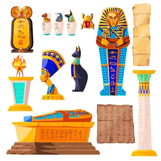 Dibujos animados de vector de egipto antiguo vector gratuito