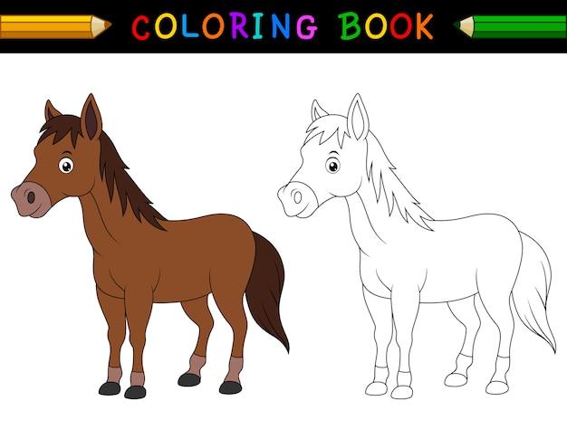 Dibujos para colorear caballo de dibujos animados | Descargar ...