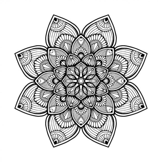 Dibujos Para Colorear Mandalas Vector Premium