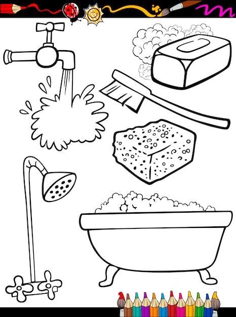 Dibujos para colorear objetos de higiene para colorear | Descargar ...