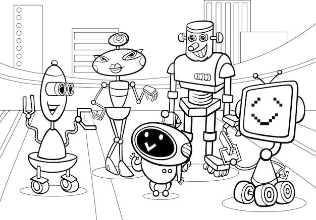Dibujos para colorear robots de dibujos animados | Descargar ...