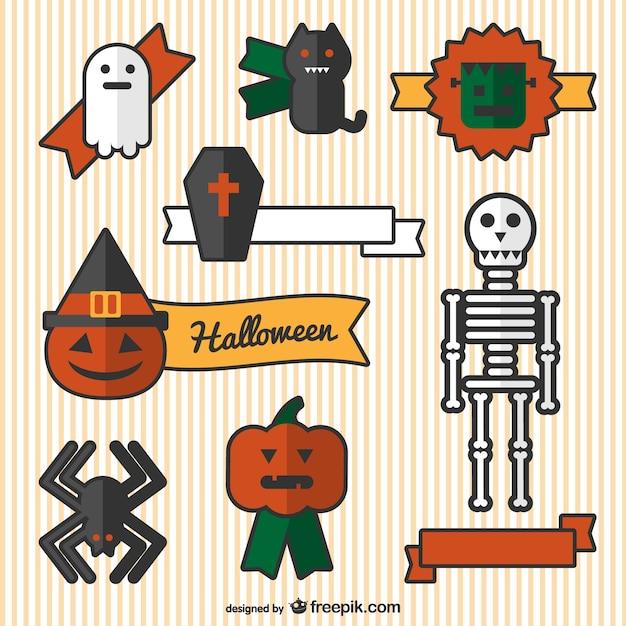 Dibujos de adornos de halloween descargar vectores gratis for Como hacer decoraciones de halloween