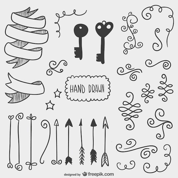 Dibujos de flechas llaves y otros adornos descargar for Setas para decorar