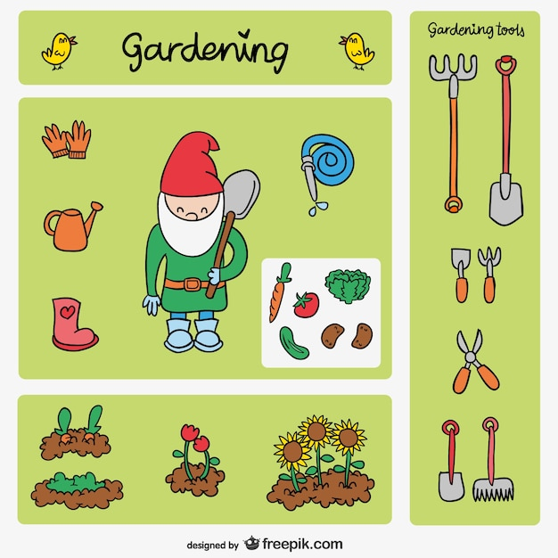 Dibujos de jardiner a descargar vectores gratis for Imagenes de jardineria gratis