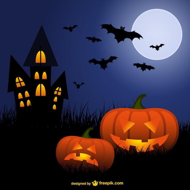 dibujos de murci lagos y calabazas para halloween