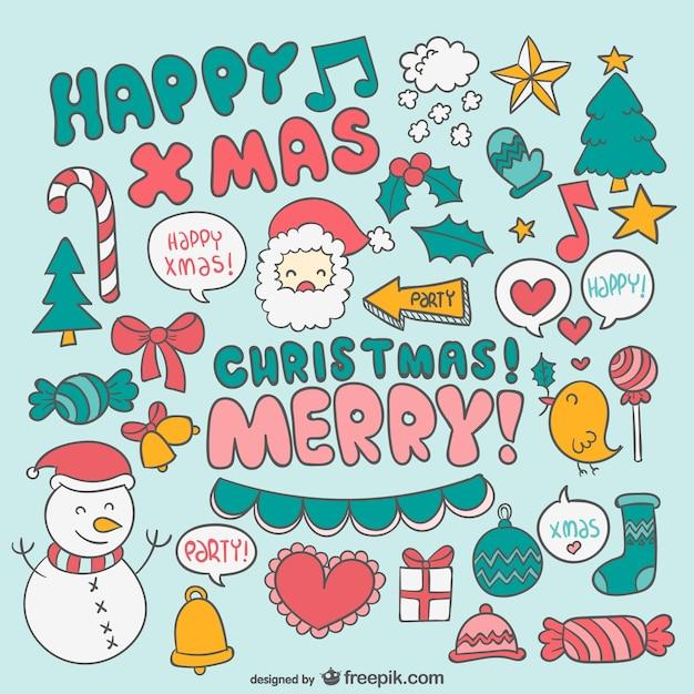 Dibujos de navidad a color descargar vectores gratis - Dibujos de navidad en color ...
