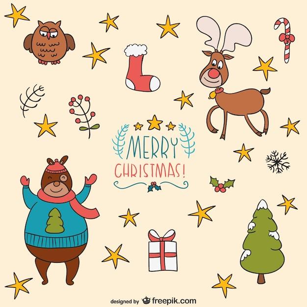 Dibujos de navidad descargar vectores gratis - Dibujos navidad gratis ...