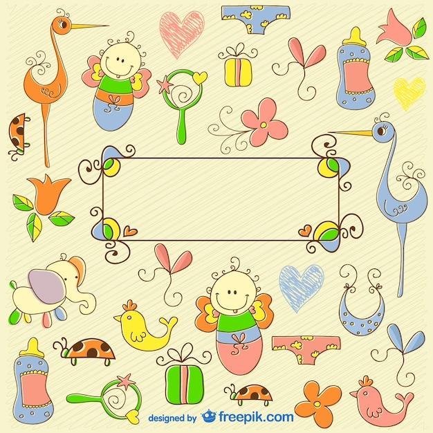 Dibujos A Mano De Bebes Descargar Vectores Gratis