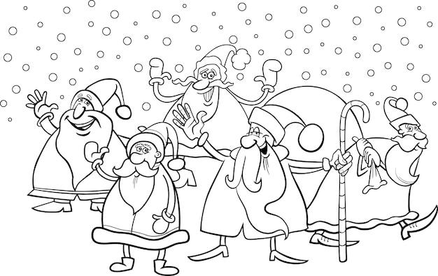 Papá Y Mamá Noel Dibujos Para Imprimir Y Colorear: Dibujos Para Pintar De Papa Noel. Best Dibujos Para Pintar