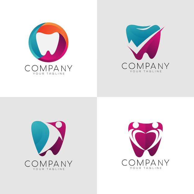Diente dental logo Vector Premium