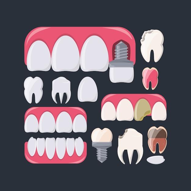 Dientes de higiene dental cuidado de la salud y tema médico ...