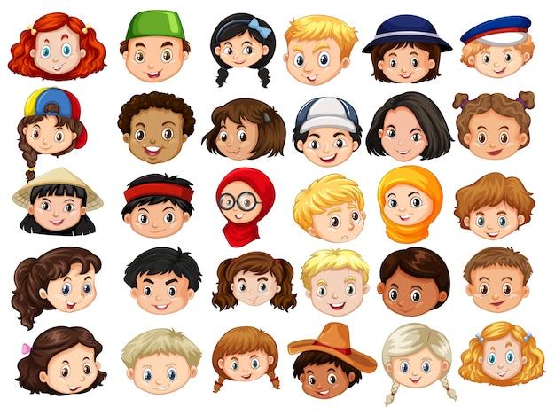 Dibujos Caras De Niños Felices Animadas