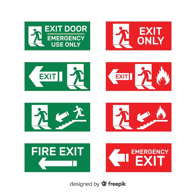Diferentes carteles de salida vector gratuito