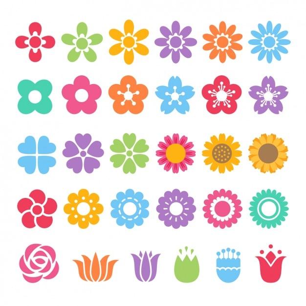 Diferentes iconos de colores vector gratuito