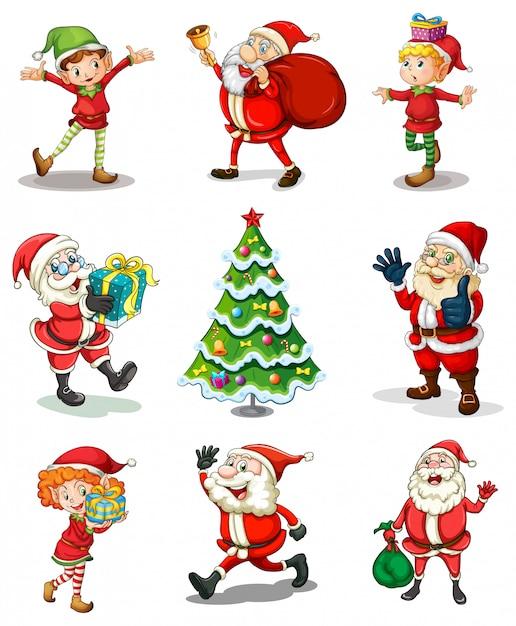Diferentes plantillas navideñas vector gratuito