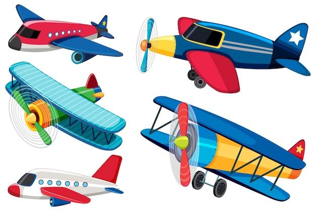Diferentes Tipos De Aviones Descargar Vectores Premium