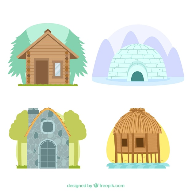 Diferentes Tipos De Casas Descargar Vectores Gratis