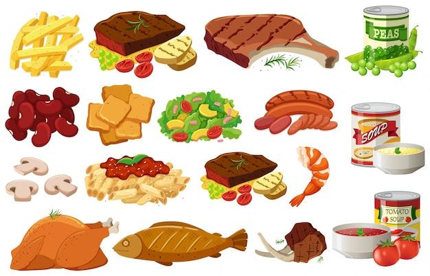 Diferentes Tipos De Ilustración De Alimentos Saludables Descargar