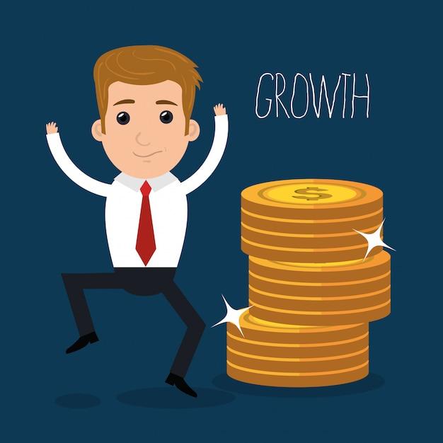 Dinero e inversión empresarial vector gratuito