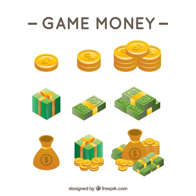 Dinero de videojuegos vector gratuito