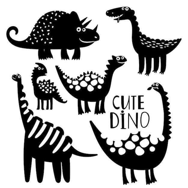 Dinosaurio Blanco Y Negro De Conjunto Vector Premium Cuadros en blanco y negro era apreciado por causa de innovadoras soluciones en su pintura. https www freepik es profile preagreement getstarted 8899242