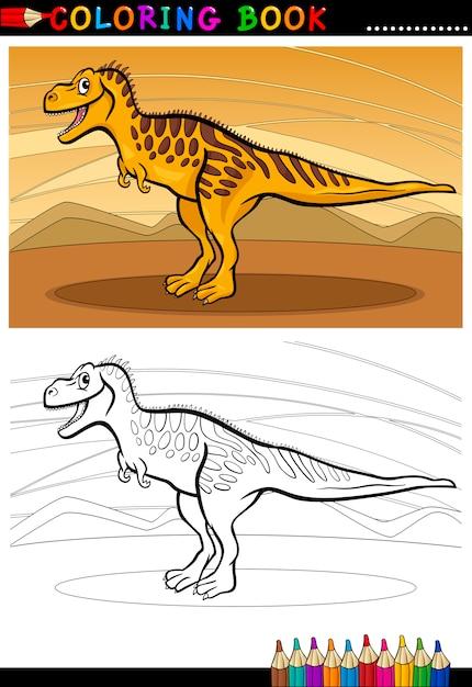 Dinosaurio de tarbosaurus para colorear libro | Descargar Vectores ...