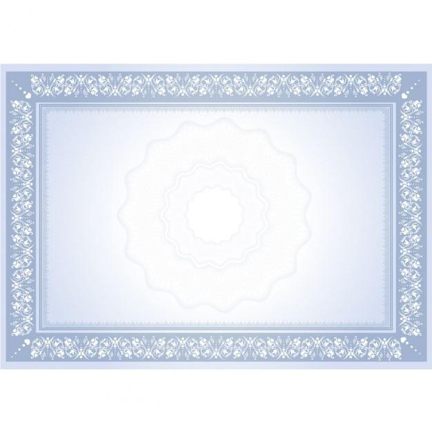 Diploma con marco ornamental | Descargar Vectores gratis