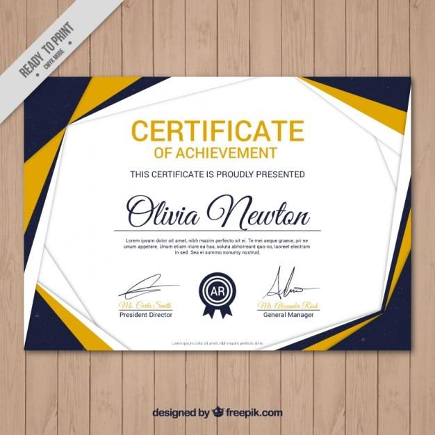 Diploma moderno deaptitud | Descargar Vectores gratis