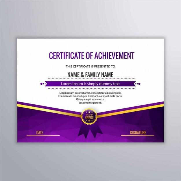 Diploma moderno en color morado | Descargar Vectores gratis