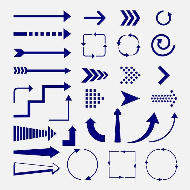 Direcciones y signos de flechas Vector Premium